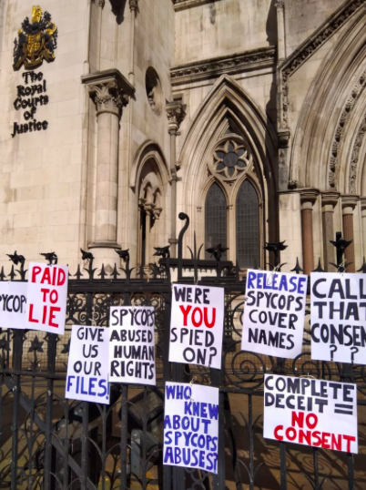 Rosa and others (Helen Steel, Alison, Ruth, Belinda) issue civil claim for damages against Commissioner of Police for the Metropolis in the High Court for common law claims of assault, misfeasance in public office, deceit and negligence.