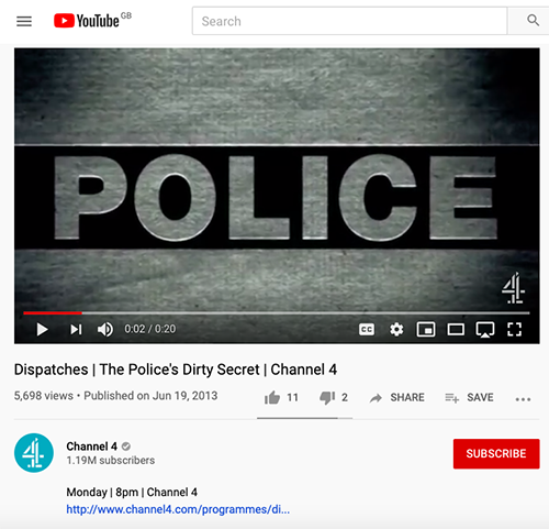 """Channel 4 Dispatches covers the scandal with contributions from whistle-blower Peter Francis, Helen Steel, Jacqui and Belinda.<br><a href=""""https://www.youtube.com/watch?v=jCvaXIbWgwU"""" target=""""blank"""" rel=""""noopener noreferrer"""">[ YOUTUBE ]</a>"""