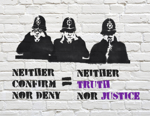 Police serve defence of neither confirm nor deny (NCND) in response to civil claims of eight women (Rosa and others).